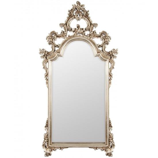 Зеркало в серебряной фигурной раме Pretty Silver в интернет-магазине ROSESTAR фото