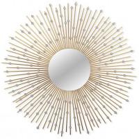 Зеркало солнце в металлической раме Raindrops
