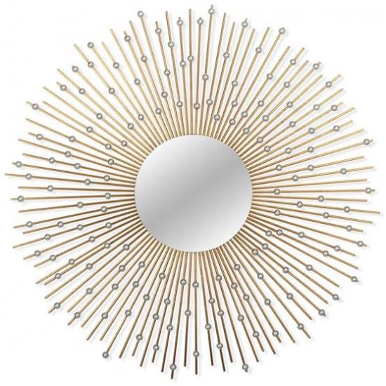Зеркало солнце в металлической раме Raindrops в интернет-магазине ROSESTAR фото