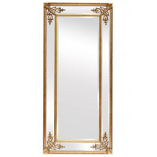 Зеркало в полный рост в золотой зеркальной раме Roberto Gold в интернет-магазине ROSESTAR фото