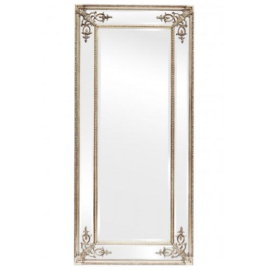 Зеркало в полный рост в серебряной зеркальной раме Roberto Silver