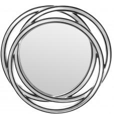 Зеркало геометрическое в стильной фигурной раме Scroll