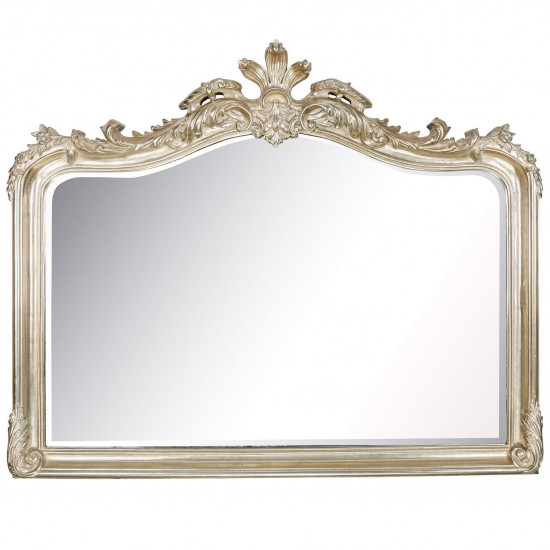 Зеркало в резной серебряной раме Solerno Silver в интернет-магазине ROSESTAR фото