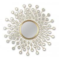 Зеркало солнце в металлической раме Splash