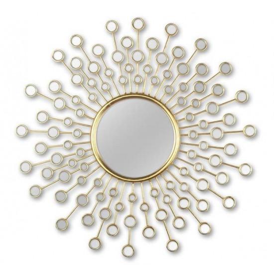 Зеркало солнце в металлической раме Splash в интернет-магазине ROSESTAR фото
