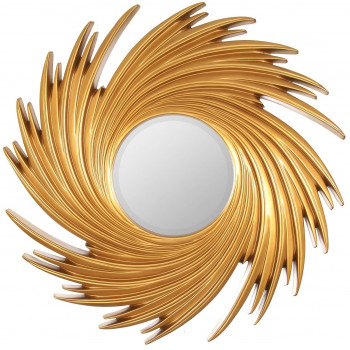 Зеркало солнце в золотой раме Tornado Gold