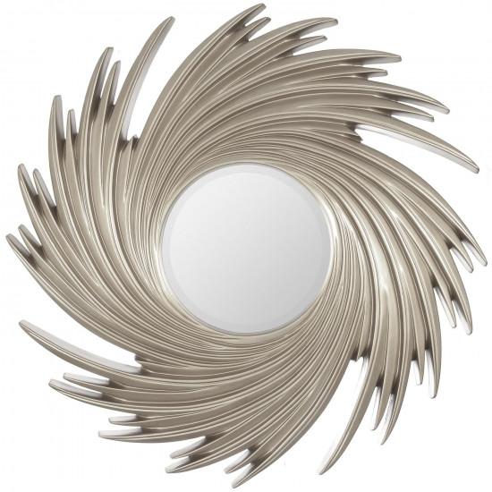 Зеркало солнце в серебряной раме Tornado Silver  в интернет-магазине ROSESTAR фото