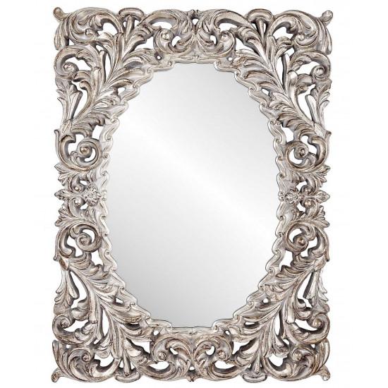 Зеркало в серебряной раме Windsor в интернет-магазине ROSESTAR фото