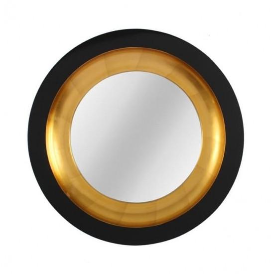 Круглое зеркало в раме Capri Black