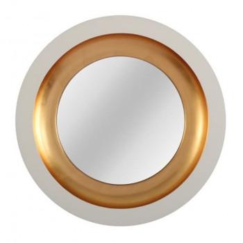 Круглое зеркало в раме Capri White