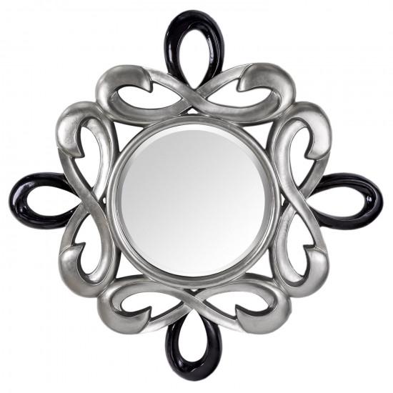 Зеркало в серебряной фигурной раме Zodiac