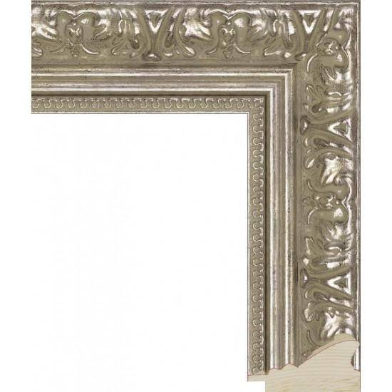 RS002.1.003 Деревянный багет серебряный в интернет-магазине ROSESTAR фото