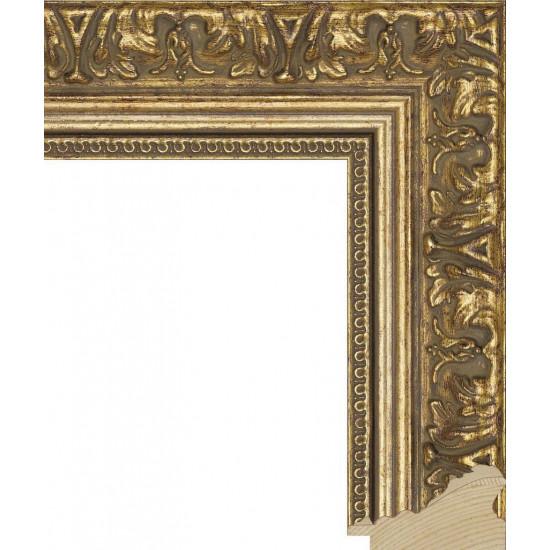 RS002.1.063 Деревянный багет золотой в интернет-магазине ROSESTAR фото