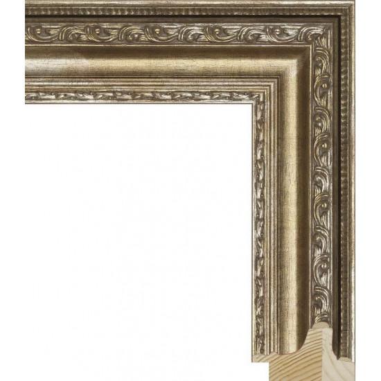 RS003.1.005 Деревянный багет серебряный в интернет-магазине ROSESTAR фото