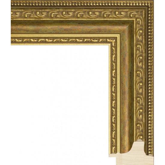 RS003.1.097 Деревянный багет золотой в интернет-магазине ROSESTAR фото