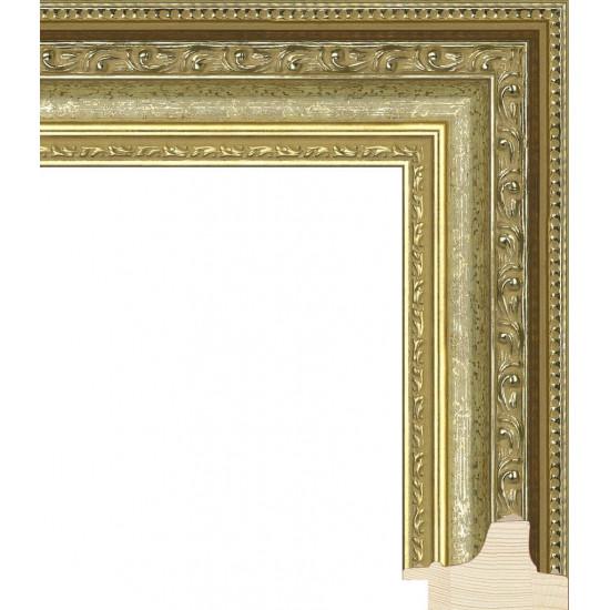 RS003.1.121 Деревянный багет золотой в интернет-магазине ROSESTAR фото