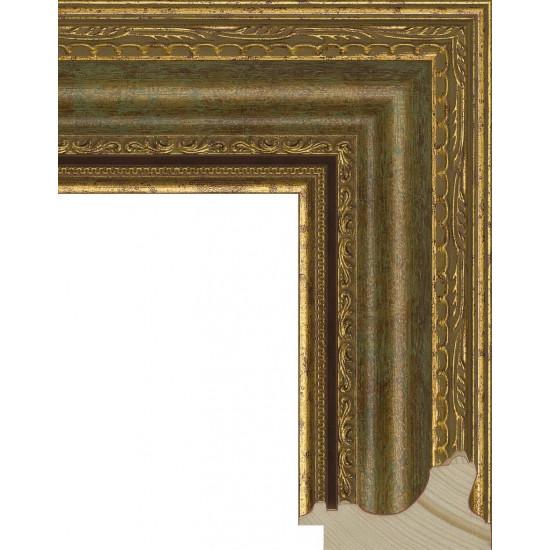 RS004.1.010 Деревянный багет золотой в интернет-магазине ROSESTAR фото