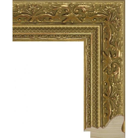 RS005.1.011 Деревянный багет золотой в интернет-магазине ROSESTAR фото