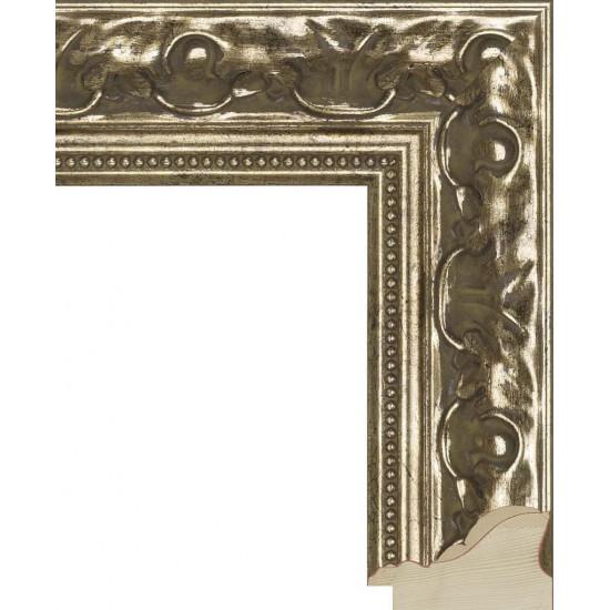RS006.1.016 Деревянный багет серебряный в интернет-магазине ROSESTAR фото