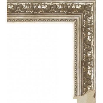 RS007.1.018 Деревянный багет серебряный