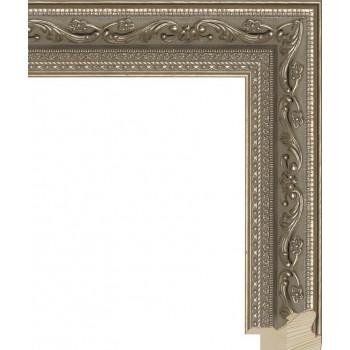 RS008.1.020 Деревянный багет серебряный
