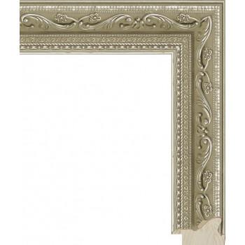 RS008.1.021 Деревянный багет серебряный