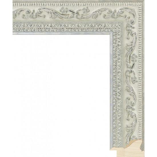 RS008.2.224 Деревянный багет серебряный в интернет-магазине ROSESTAR фото