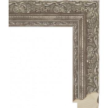 RS009.1.023 Деревянный багет серебряный