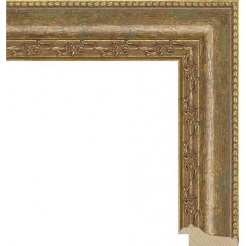 RS010.1.026 Деревянный багет золотой