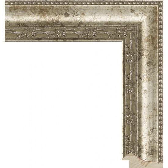 RS010.1.027 Деревянный багет серебряный в интернет-магазине ROSESTAR фото