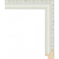 RS017.1.499 Деревянный багет белый