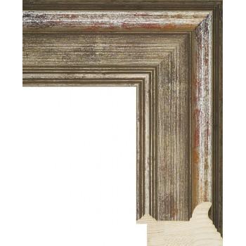 RS018.0.214 Деревянный багет серебряный