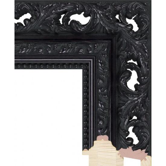 RS021.1.207 Деревянный багет чёрный в интернет-магазине ROSESTAR фото