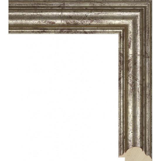 RS022.0.044 Деревянный багет серебряный в интернет-магазине ROSESTAR фото