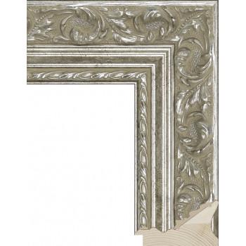 RS023.1.065 Деревянный багет серебряный