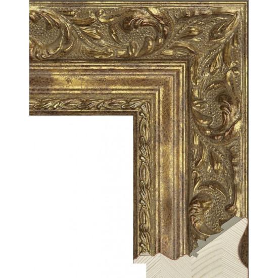 RS023.1.356 Деревянный багет золотой в интернет-магазине ROSESTAR фото