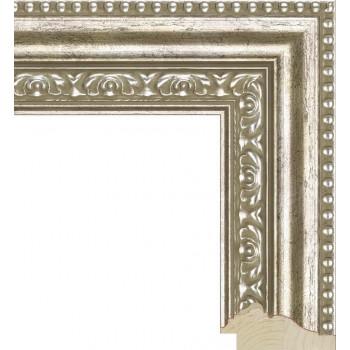 RS025.1.065 Деревянный багет серебряный