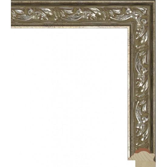 RS032.1.065 Деревянный багет серебряный в интернет-магазине ROSESTAR фото
