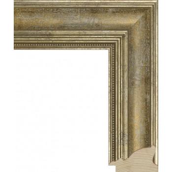 RS035.1.085 Деревянный багет серебряный