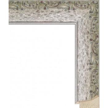 RS037.1.194 Деревянный багет серебряный