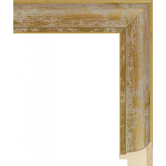 RS044.0.106 Деревянный багет золотой в интернет-магазине ROSESTAR фото