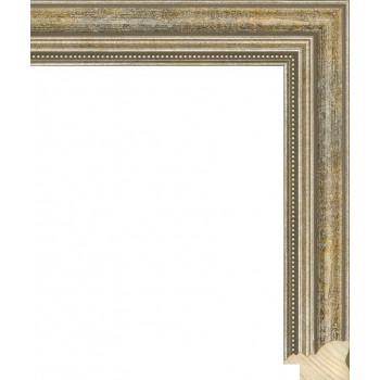 RS045.1.145 Деревянный багет серебряный
