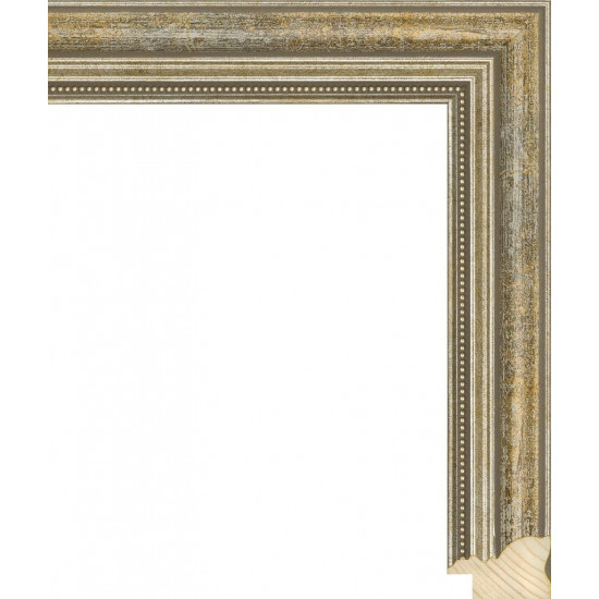 RS045.1.145 Деревянный багет серебряный в интернет-магазине ROSESTAR фото