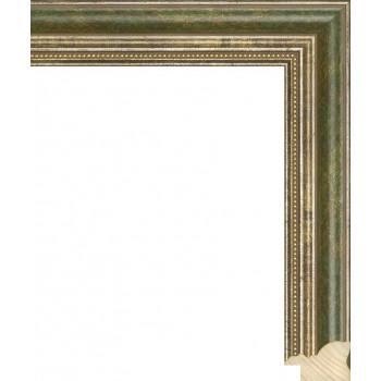 RS045.1.160 Деревянный багет зелёный