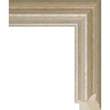 RS048.0.251 Деревянный багет серебряный