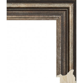 RS048.0.392 Деревянный багет серебряный