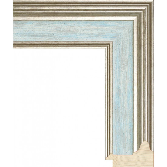 RS053.0.114 Деревянный багет голубой в интернет-магазине ROSESTAR фото