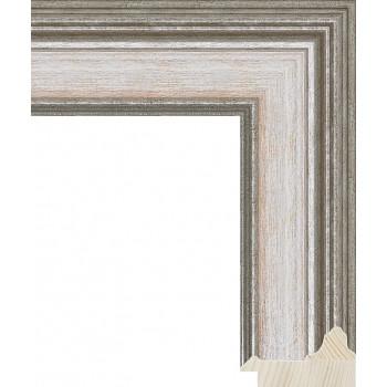 RS053.0.252 Деревянный багет серебряный
