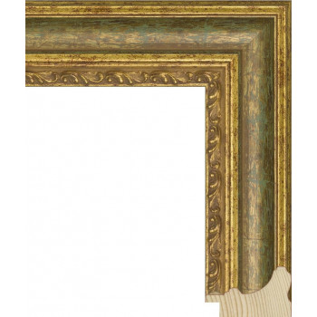 RS058.1.001 Деревянный багет золотой