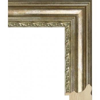 RS058.1.066 Деревянный багет серебряный